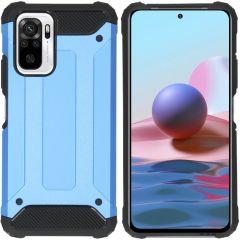 iMoshion Rugged Xtreme Case Xiaomi Redmi Note 10 Pro - Hellblau