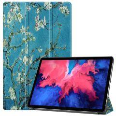 iMoshion Design Trifold Bookcase  Lenovo Tab P11 - Green Plant