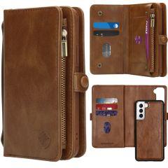 iMoshion 2-1 Wallet Booktype für das Samsung Galaxy S21 - Braun
