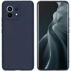 iMoshion Color TPU Hülle für das Xiaomi Mi 11 - Dunkelblau