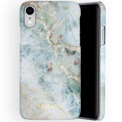 Selencia Maya Fashion Backcover iPhone Xr - Marble Blue