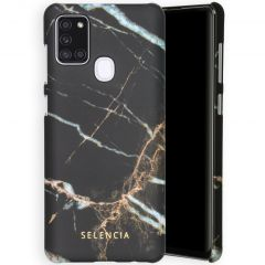 Selencia Maya Fashion Backcover Samsung Galaxy A21s - Marble Black