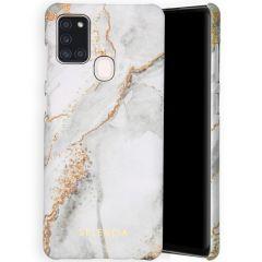 Selencia Maya Fashion Backcover Samsung Galaxy A21s - Marble Stone