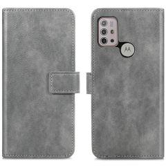 iMoshion Luxuriöse Buchtyp-Hülle Motorola Moto G30 / G20 / G10 (Power)-Grau