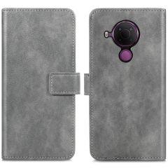 iMoshion Luxuriöse Buchtyp-Hülle Nokia 5.4 - Grau