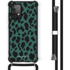 iMoshion Design Hülle mit Band Galaxy A52(s) (5G/4G) - Leopard - Grün