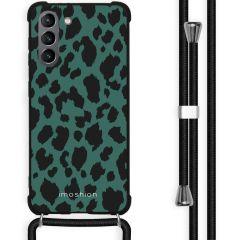 iMoshion Design Hülle mit Band Galaxy S21 - Leopard - Grün / Schwarz