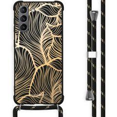 iMoshion Design Hülle mit Band Galaxy S21 Plus - Blätter
