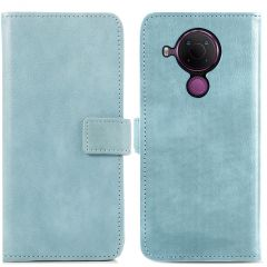 iMoshion Luxuriöse Buchtyp-Hülle Nokia 5.4 - Hellblau