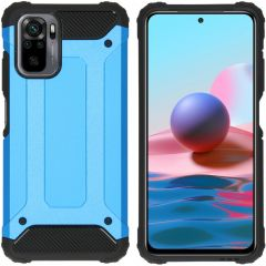 iMoshion Rugged Xtreme Case Xiaomi Redmi Note 10 (4G) - Hellblau