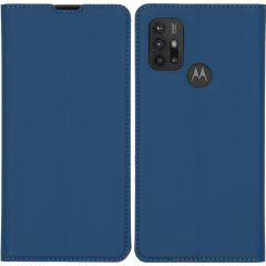 iMoshion Slim Folio Booklet Motorola Moto G30 / G20 / G10 (Power) - Blau