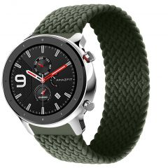 iMoshion Geflochtenes Nylon-Armband Amazfit GTR - Dunkelgrün