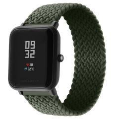 iMoshion Geflochtenes Nylon-Armband Amazfit GTS / BIP - Dunkelgrün