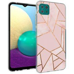 iMoshion Design Hülle Galaxy A22 (5G) - Grafik-Kupfer - Rosa / Gold