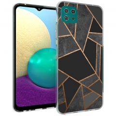 iMoshion Design Hülle Galaxy A22 (5G) - Grafik-Kupfer - Schwarz /Gold