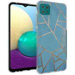 iMoshion Design Hülle Galaxy A22 (5G) - Grafik-Kupfer - Blau / Gold