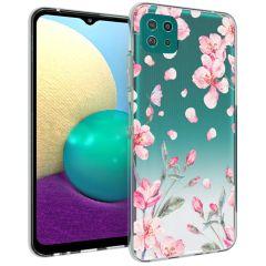 iMoshion Design Hülle Samsung Galaxy A22 (5G) - Blume - Rosa