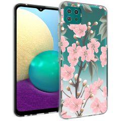 iMoshion Design Hülle Samsung Galaxy A22 (5G) - Blume - Rosa / Grün