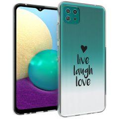 iMoshion Design Hülle Galaxy A22 (5G) - Live Laugh Love - Schwarz