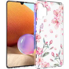iMoshion Design Hülle Samsung Galaxy A32 (4G) - Blume - Rosa