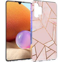 iMoshion Design Hülle Galaxy A32 (4G) - Grafik-Kupfer - Rosa / Gold