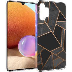 iMoshion Design Hülle Galaxy A32 (4G) - Grafik-Kupfer - Schwarz /Gold