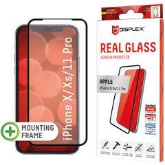 Displex Bildschirmschutzfolie Real Glass Full Cover für das iPhone 11 Pro / Xs / X - Schwarz
