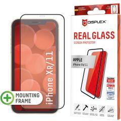 Displex Bildschirmschutzfolie Real Glass Full Cover für das iPhone 11 / Xr - Schwarz