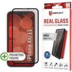 Displex Displayschutz aus gehärtetem Glas Privacy für das iPhone 11 / Xr - Schwarz
