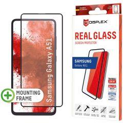 Displex Bildschirmschutzfolie Real Glass Full Cover für das Samsung Galaxy A51 - Schwarz