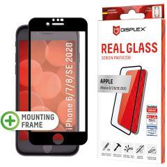 Displex Bildschirmschutzfolie Real Glass Full Cover für das iPhone SE (2020) / 8 / 7 / 6(s) - Schwarz