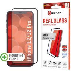 Displex Bildschirmschutzfolie Real Glass Full Cover für das iPhone 12 (Pro) - Schwarz