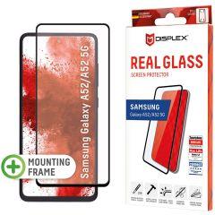 Displex Bildschirmschutzfolie Real Glass Full Cover für das Samsung Galaxy A52(s) (5G/4G) - Schwarz