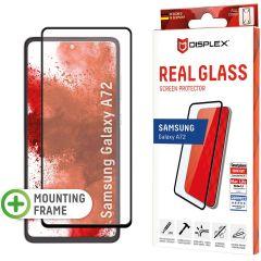Displex Bildschirmschutzfolie Real Glass Full Cover für das Samsung Galaxy A72 - Schwarz