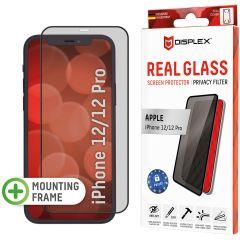 Displex Displayschutz aus gehärtetem Glas Privacy für das iPhone 12 (Pro) - Schwarz