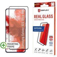 Displex Bildschirmschutzfolie Real Glass Fingerprint Sensor für das Samsung Galaxy S21 Ultra - Schwarz