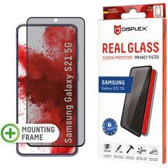Displex Displayschutz aus gehärtetem Glas Privacy für das Samsung Galaxy S21 - Schwarz
