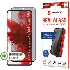 Displex Displayschutz aus gehärtetem Glas Privacy für das Samsung Galaxy S21 Ultra - Schwarz