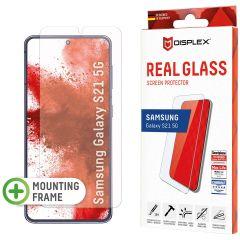 Displex Bildschirmschutzfolie Real Glass Fingerprint Sensor für das Samsung Galaxy S21
