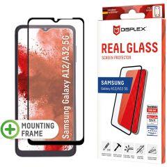 Displex Bildschirmschutzfolie Real Glass Full Cover für das Samsung Galaxy A32 (5G) / A12 - Schwarz