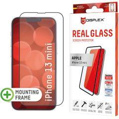 Displex Bildschirmschutzfolie Real Glass Full Cover für das iPhone 13 Mini - Schwarz