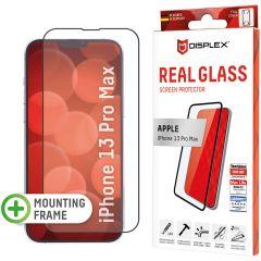 Displex Bildschirmschutzfolie Real Glass Full Cover für das iPhone 13 Pro Max - Schwarz