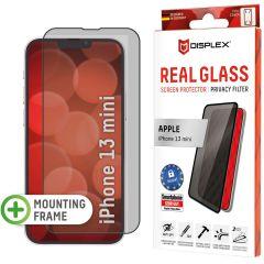Displex Displayschutz aus gehärtetem Glas Privacy für das iPhone 13 Mini - Schwarz