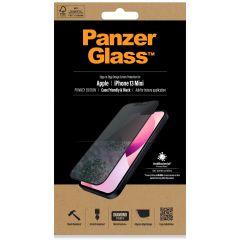 PanzerGlass Privacy Case Friendly Anti-Bacterial Displayschutzfolie für das iPhone 13 Mini - Schwarz