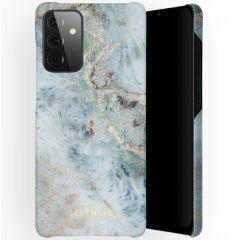 Selencia Maya Fashion Backcover Samsung Galaxy A72 - Marble Blue