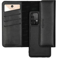 Selencia Clutch mit herausnehmbarem Backcover Galaxy A72 - Schwarz