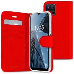 Accezz Wallet TPU Booklet für das Samsung Galaxy A12 - Rot