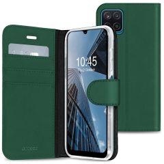 Accezz Wallet TPU Booklet für das Samsung Galaxy A12 - Grün