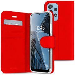 Accezz Wallet TPU Booklet für das Samsung Galaxy A72 - Rot