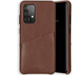 Selencia Veganes Leder-Backcover Galaxy A52(s) (5G/4G) - Braun
